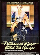 The Postman Always Rings Twice 1981 poster Jack Nicholson Bob Rafelson