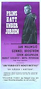 Prins Hatt under jorden 1963 Movie poster Jan Malmsj�