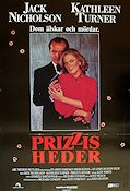 Prizzi's Honor 1985 Movie poster Jack Nicholson