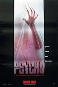 Psycho 1998 1998 Movie poster Anne Heche Gus Van Sant