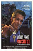 Psycho 3 1985 Movie poster Anthony Perkins