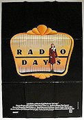 Radio Days 1987 Movie poster Mia Farrow Woody Allen