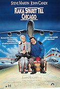 Planes Trains and Automobiles 1988 Movie poster Steve Martin John Hughes