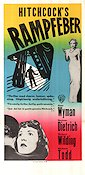 Stage Fright 1950 poster Jane Wyman Alfred Hitchcock