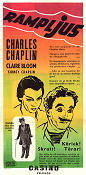Limelight 1952 movie poster Claire Bloom Charlie Chaplin