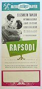Rhapsody 1954 Movie poster Elizabeth Taylor