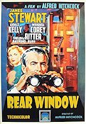 Rear Window 1955 poster James Stewart Alfred Hitchcock