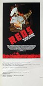 Reds 1981 poster Robert Redford Warren Beatty