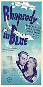 Rhapsody in Blue 1945 Movie poster Robert Alda