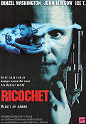 Ricochet 1991 Movie poster Denzel Washington Russell Mulcahy