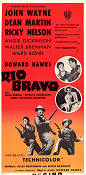 Rio Bravo 1959 Movie poster John Wayne Howard Hawks