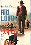 Rio Lobo 1970 Movie poster John Wayne Howard Hawks