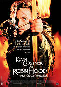 Robin Hood Prince of Thieves 1990 Movie poster Kevin Costner