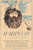 Robinson i sk�rg�rden 1921 Movie poster Eric Lindholm Rune Carlsten