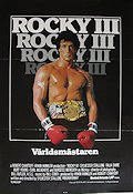 Rocky 3 1982 Movie poster Sylvester Stallone