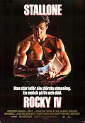 Rocky 4 1985 Movie poster Sylvester Stallone