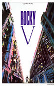 Rocky 5 1990 Movie poster Sylvester Stallone