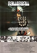 Rollerball 1975 Movie poster James Caan Norman Jewison