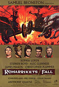 The Fall of the Roman Empire 1964 Movie poster Sophia Loren Anthony Mann