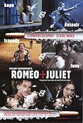 Romeo and Juliet 1996 Movie poster Leonardo di Caprio Baz Luhrmann
