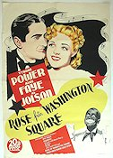 Rose of Washington Square 1939 poster Tyrone Power