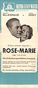 Rose-Marie 1936 Movie poster Jeanette MacDonald