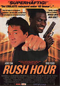 Rush Hour 1998 Movie poster Jackie Chan Brett Ratner