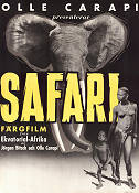 Safari 1952 Movie poster Olle Carapi