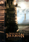 The Two Towers 2002 Movie poster Elijah Wood Peter Jackson