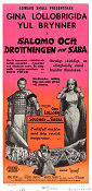 Solomon and Sheba 1959 poster Gina Lollobrigida King Vidor