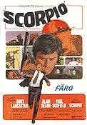 Scorpio 1973 Movie poster Burt Lancaster Michael Winner