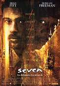 Seven 1995 Movie poster Morgan Freeman David Fincher