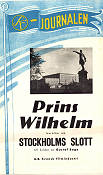 SF-journalen Stockholms Slott 1944 Movie poster Prins Wilhelm