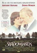 Shadowlands 1993 Movie poster Anthony Perkins Richard Attenborough