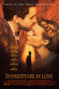 Shakespeare in Love 1998 Gwyneth Paltrow Joseph Fiennes Judi Dench William Shakespeare
