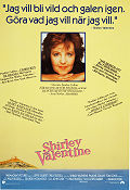 Shirley Valentine 1989 Movie poster Pauline Collins