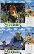 Shrek 2001 lobby card set