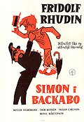 Simon i Backabo 1934 Movie poster Fridolf Rhudin