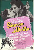 Samson and Delilah 1951 Movie poster Hedy Lamarr Cecil B DeMille
