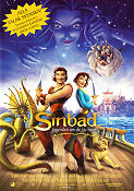 Sinbad: Legend of the Seven Seas 2003 poster Brad Pitt Patrick Gilmore