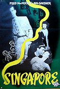 Singapore 1947 poster Fred MacMurray