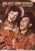 Singin' in the Rain 1952 Movie poster Gene Kelly Stanley Donen