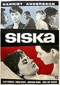 Siska 1962 Movie poster Harriet Andersson