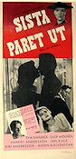 Last Pair Out 1956 Movie poster Eva Dahlbeck Alf Sj�berg