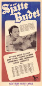 Sjätte budet 1947 Movie poster Esther Roeck Hansen
