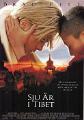 Seven Years in Tibet 1997 Movie poster Brad Pitt Jean-Jacques Annaud