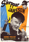 Skeppar Jansson 1944 Movie poster Sigurd Wallén