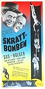 Skrattbomben 1954 Movie poster Gus och Holger