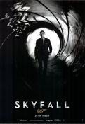 Skyfall 2012 Movie poster Daniel Craig Sam Mendes