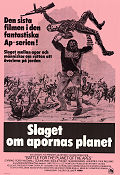Battle For the Planet of the Apes 1973 Movie poster Roddy McDowall